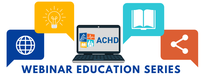 picture of laptop with icons relating to webinar education